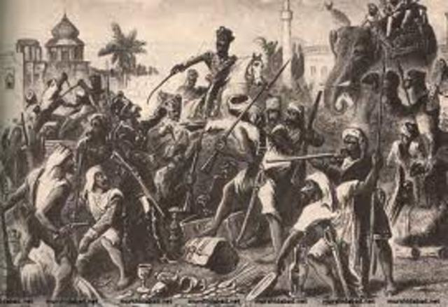 The Sepoy Mutniy and Indians Start to Rebel