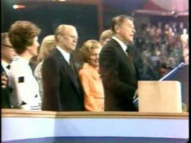 Ronald Reagan Addresses Kansas City Convention Delegates
