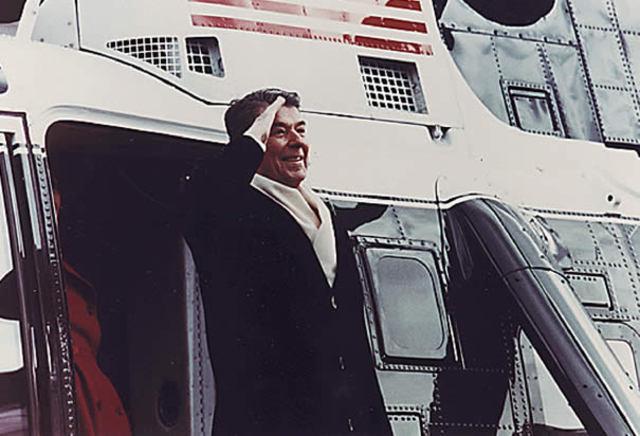 Reagan left the White House