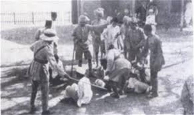 Gandhi Beaten Down