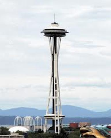 Space Needle in Seattle built