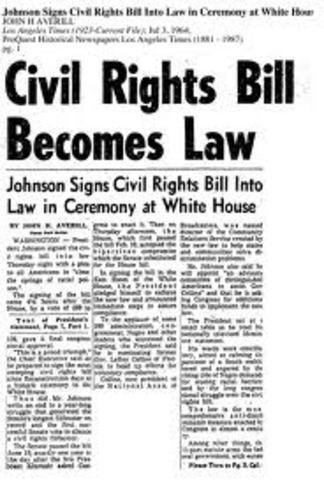 Civil Rights Act passd