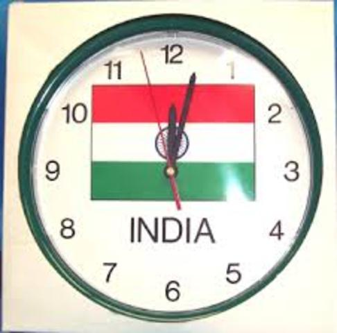 British India Officially Adopts Indian Standard Time
