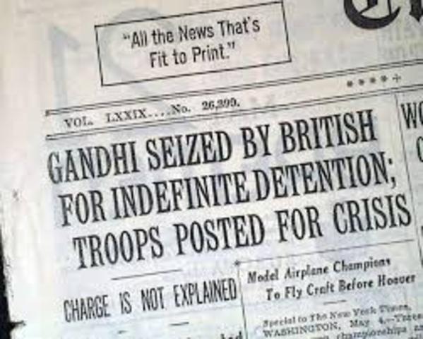 Gandhi Gets Arrested