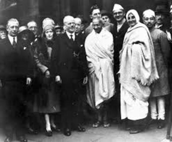 Gandhi Travels To London