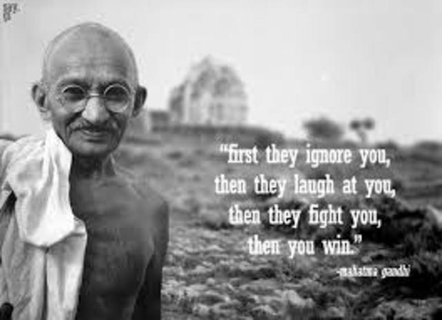 Gandhi Launches His Campaign