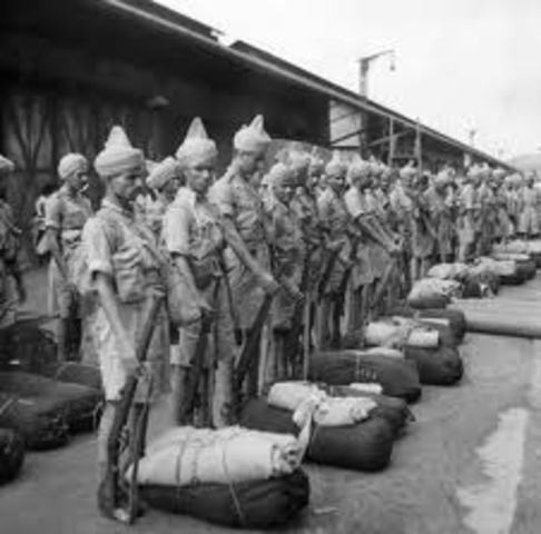 Indian return from war