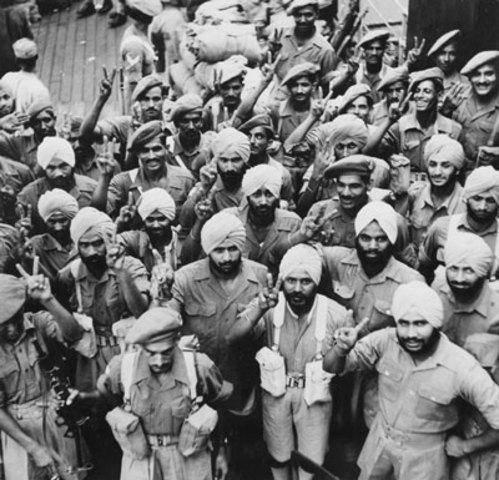 Indian troops return