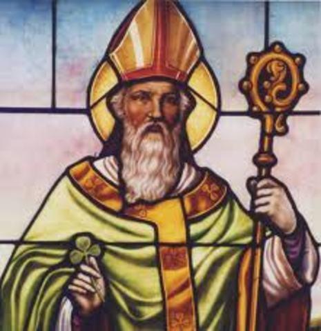 Saint Patrcik returned to Ireland