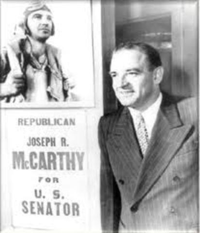 Senator Joseph McCarthy Begins Communist Witch Hunt