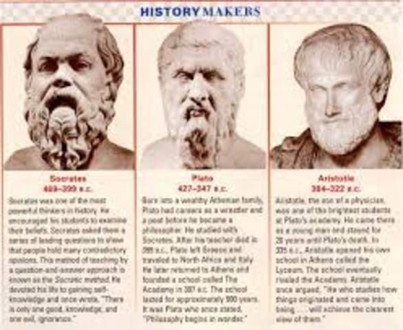 Socrates, Plato and Aristotle