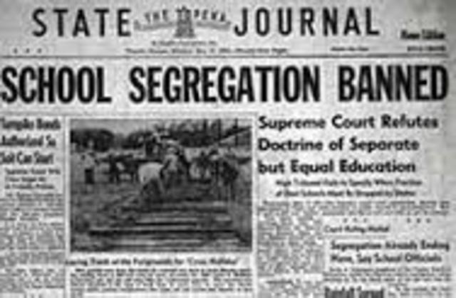 Segregation Ruled Illegal in U.S.