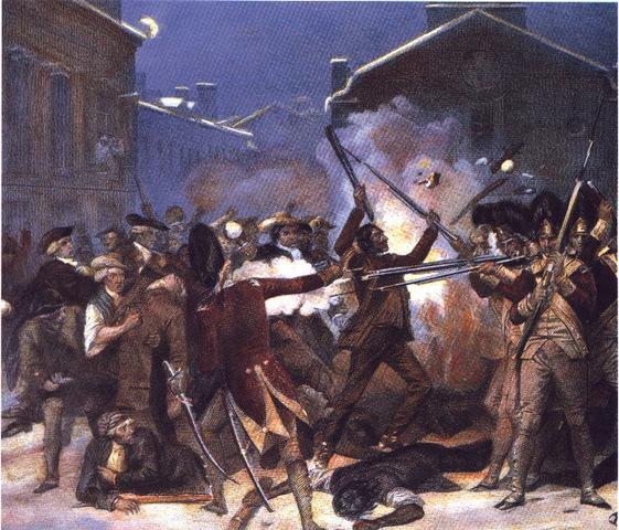 Crispus Attucks dies in the Boston Massacre