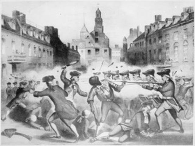 Crispus Attucks dies in Boston Massacre