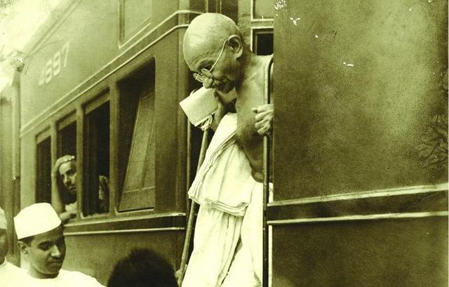 Gandhi Thrown Off a Train