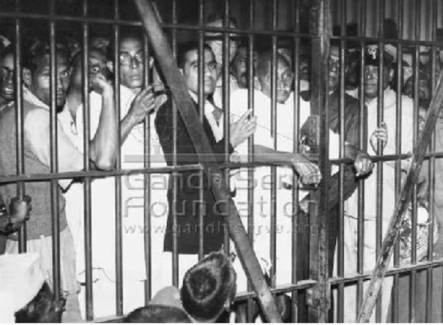 Strikes and demonstrations lead Indians to jail.