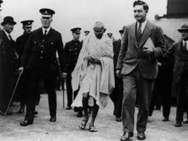 Gandhi is put on prision