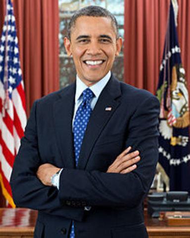 Barack Obama becomes the 1st black President