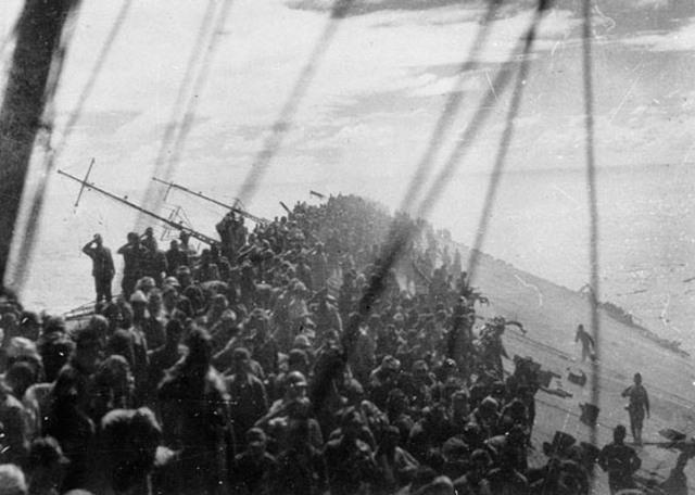 British and US navies halt the Japanese naval advance