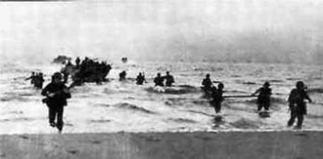 Allied troops land on the beaches of Salerno
