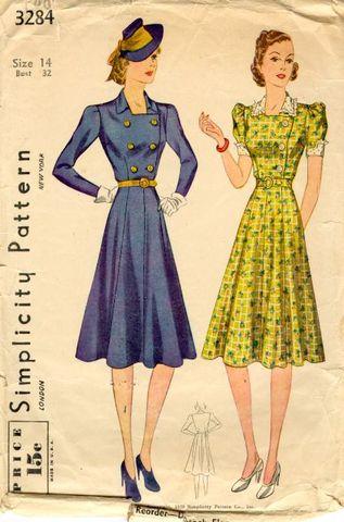 1930s dress hemline gets lower