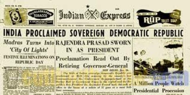 India Becomes a Republic