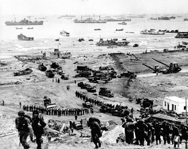 Anglo-American forces break out of the Normandy