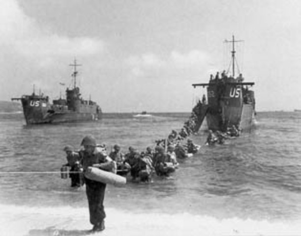 Allied forces land in southern France near Nice