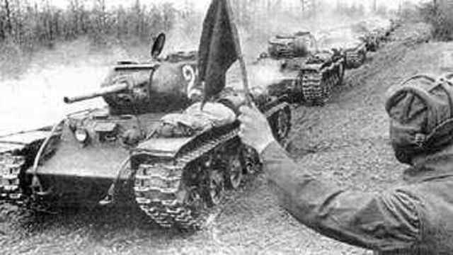 The appearance of Soviet troops on the Prut River
