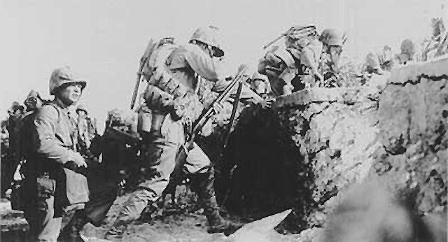 Allied troops conquer Okinawa