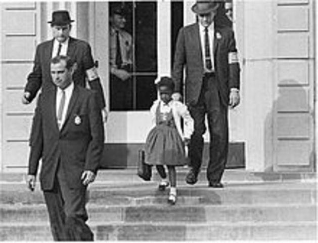 Ruby Bridges 1st day of school