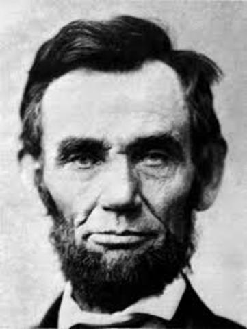 Abraham Lincoln is re-elected president.