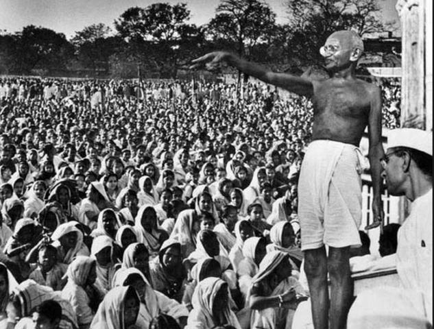 Gandhi Back in India