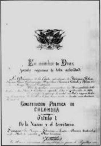PROMULGACIÓN DE LA CONSTITUCIÓN DE 1886