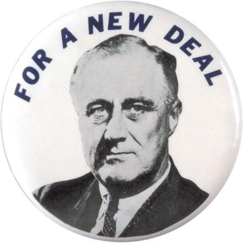 """Nace el programa """"New Deal"""" propuesto por Franklin D. Roosevelt"""