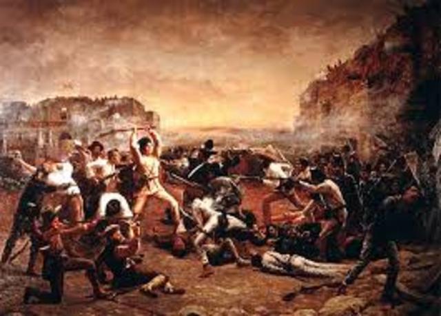 The Battle of the Alamo starts
