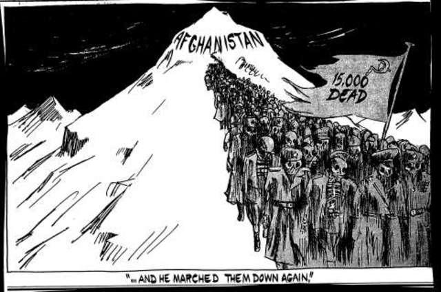 Soviets leave Afghanistan