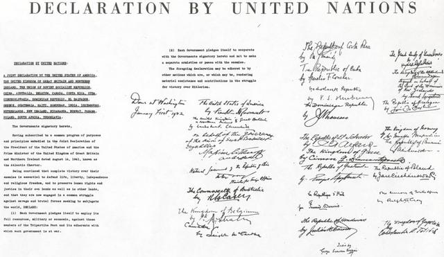 Declaration of U.N. Signed