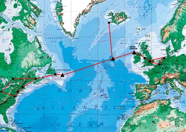 Industralization: Transatlantic cable laid