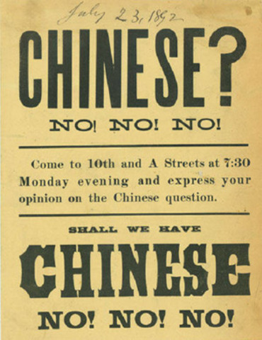Gillded Age: Chinease Exclusion Act