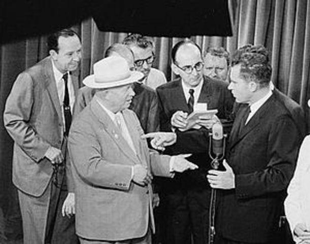 Kitchen Debate Between Nixon and Khrushchev