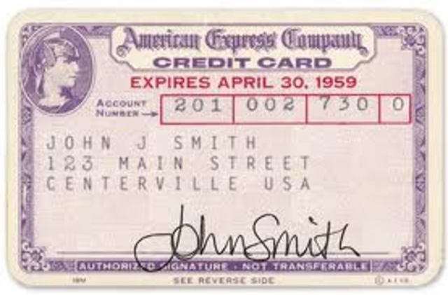 The first Diners Club credit cards