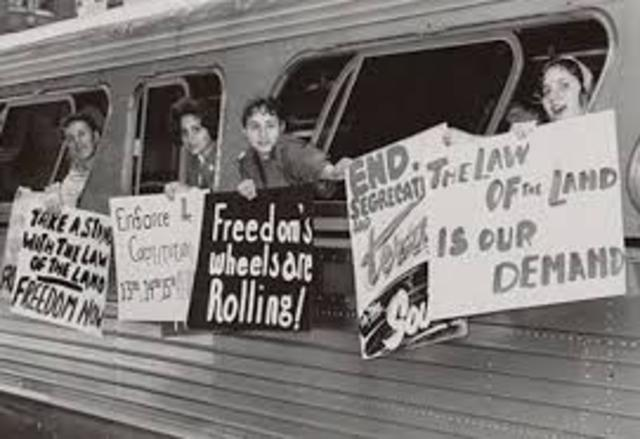 Freedom Riders Challenge Segregation on Interstate Buses