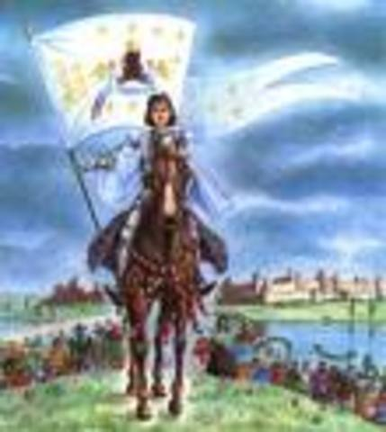 Joan gets her things including her banner and armor and joins the armies at Blois.
