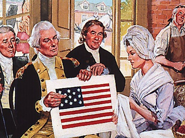 Betsy Ross Meets with the Committee of Three