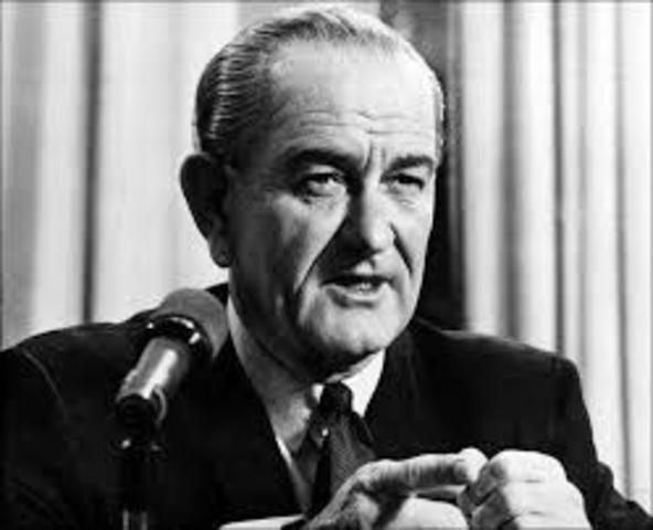 "President Lyndon B Johnson declares ""War on Poverty"""