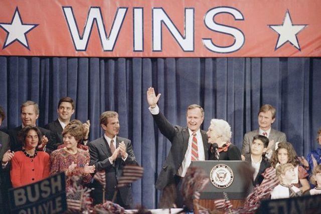 George H.W. Bush becomes president - Political