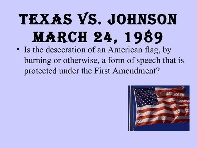 Texas vs Johnson - Social