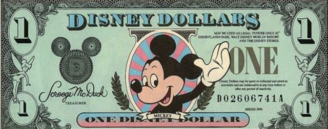First 'Disney Dollars' sold at Disneyland