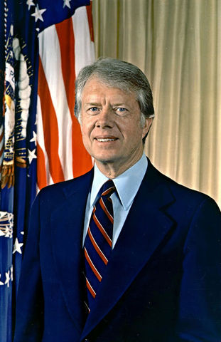 Jimmy Carter is inaugurated as the 39th president of the United States